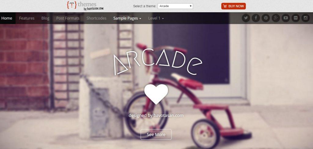 Plantilla WordPress Arcade