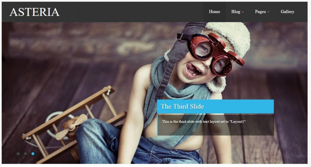 Plantilla WordPress Asteria