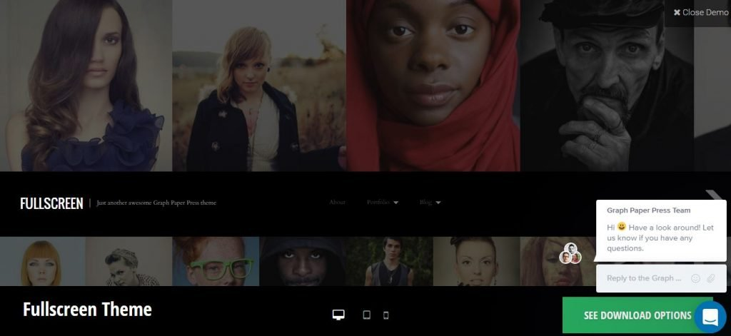 Plantilla WordPress FullScreen