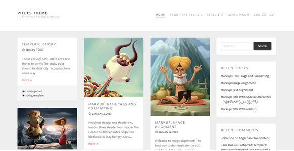 Plantilla WordPress Pieces