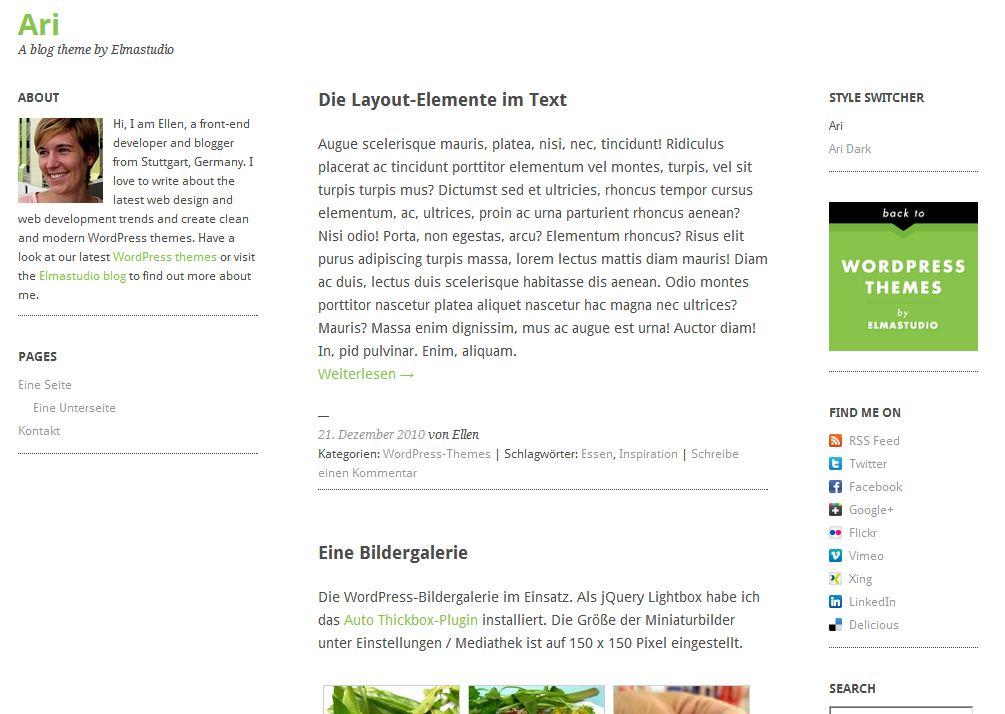 Plantilla gratis Ari Responsive Web Design