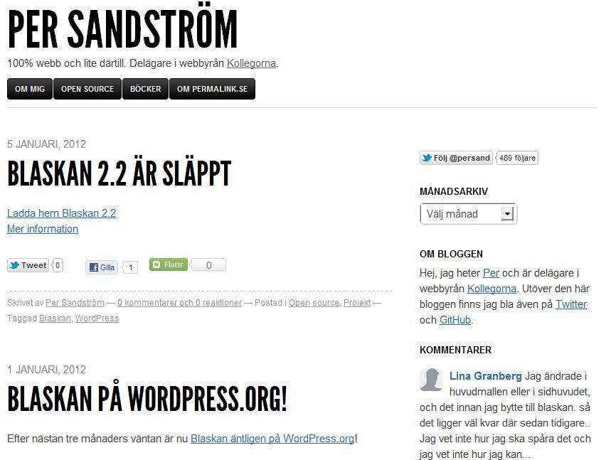 Plantilla gratis Blaskan Responsive Web Design