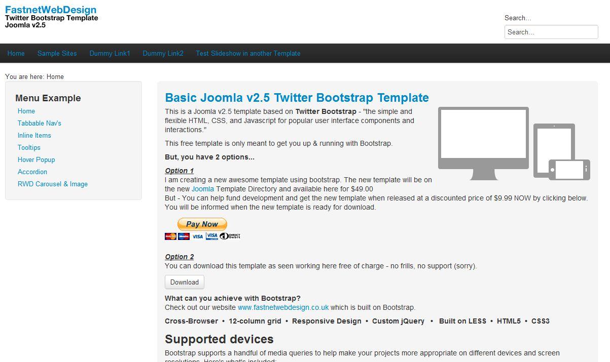 Plantilla gratis Bootstrap Responsive Web Design