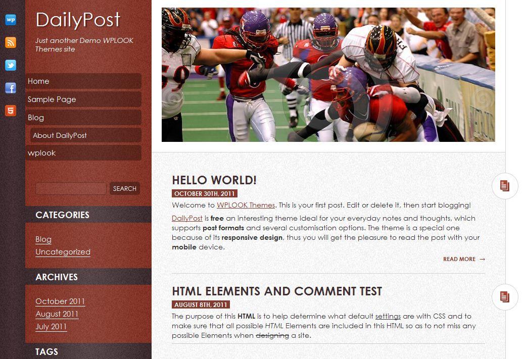 Plantilla gratis DailyPost Responsive Web Design