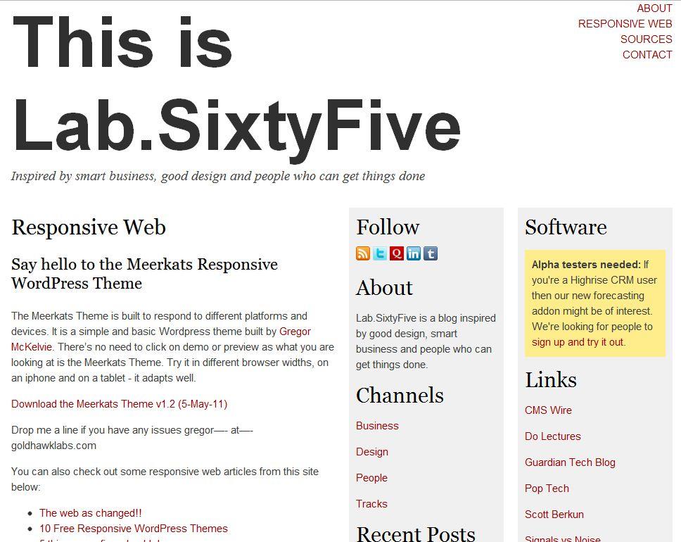 Plantilla gratis Meerkats Responsive Web Design