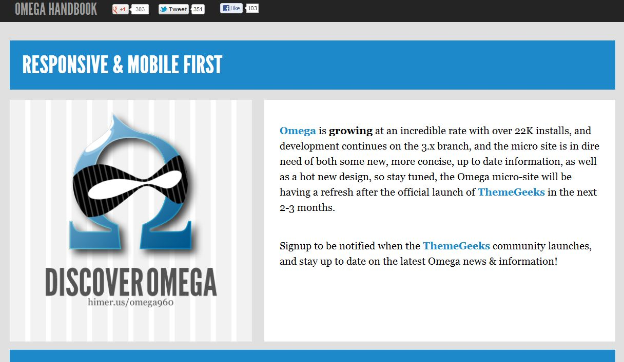 Plantilla gratis Omega Responsive Web Design