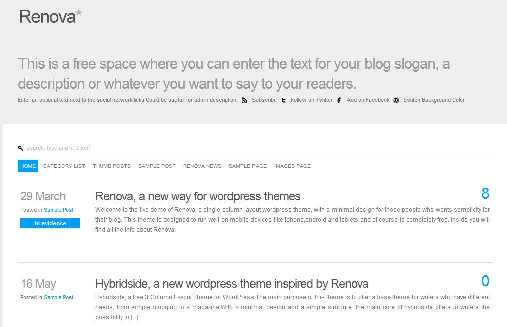 Plantilla gratis Renova Responsive Web Design