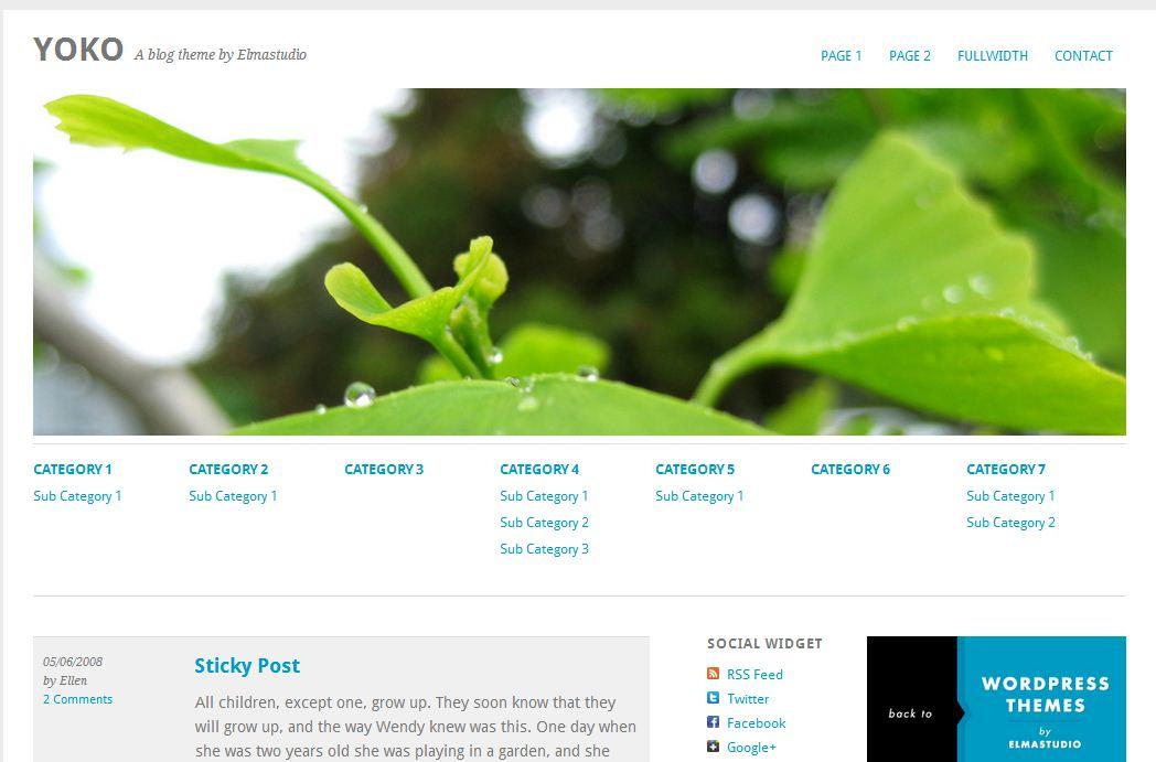 Plantilla gratis Yoko Responsive Web Design