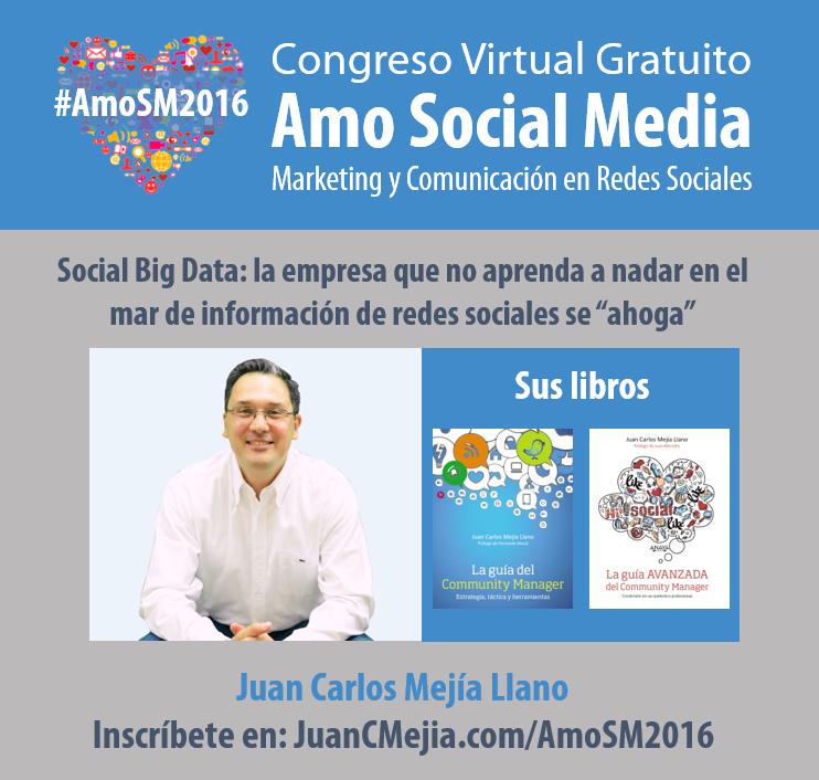 AmoSM2016 Conferencia Juan Carlos Mejía Llano Libros