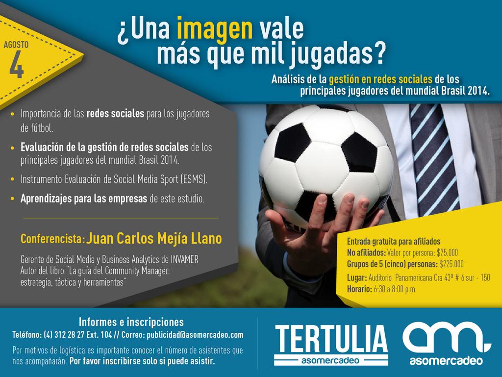 Conferencia de Análisis de redes sociales jugadores de futbol Juan Carlos Mejia Llano
