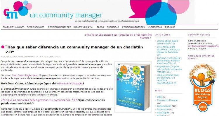 Hablando de profesión de community manager - Juan Carlos Mejía Llano