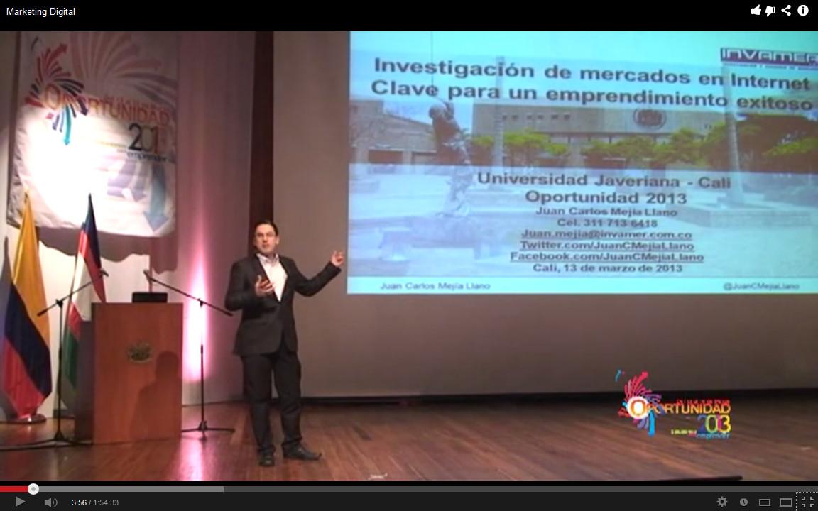 Juan Carlos Mejía Llano ponente del congreso Oportunidad 2013 Universidad Javeriana Cali1