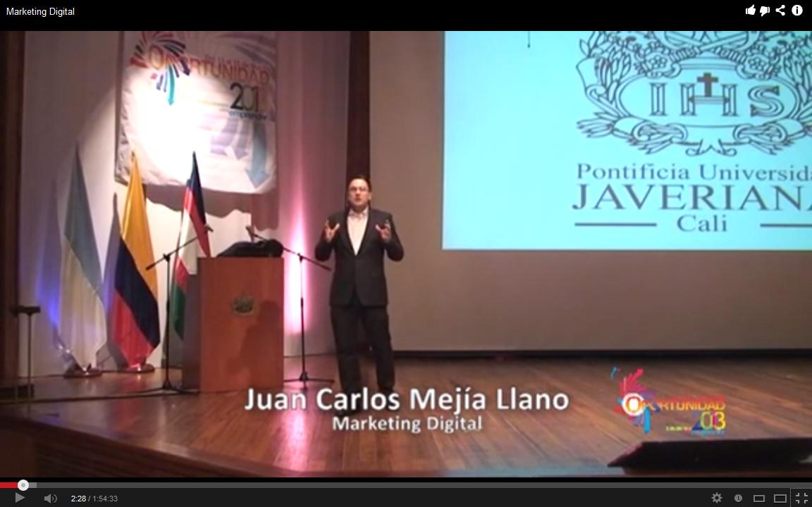 Juan Carlos Mejía Llano ponente del congreso Oportunidad 2013 Universidad Javeriana Cali7