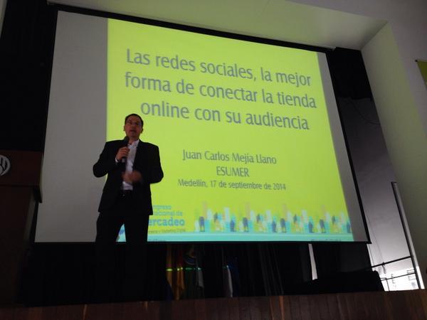 Juan Carlos Mejía en Congreso Internacional de Mercadeo ESUMER2