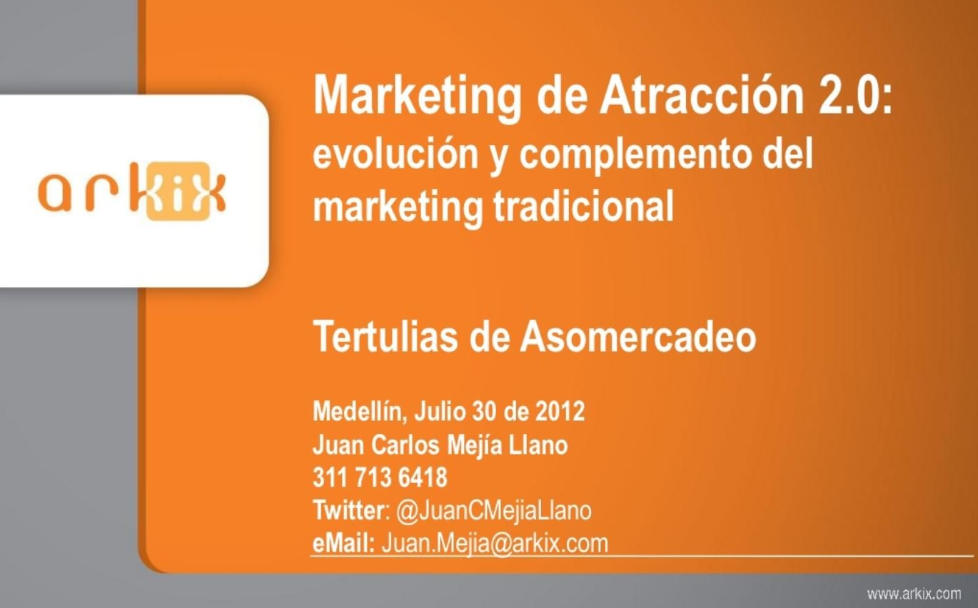 Presentación de Inbound Marketing Asomercadeo