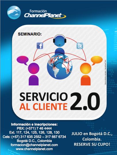 Promoción de evento Servicio al cliente 2.0
