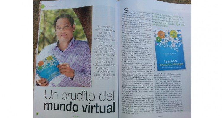 Juan Carlos Mejia Llano en la revista La Riviera