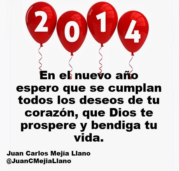 Años nuevo 2014 Juan Carlos Mejía Llano