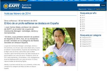 Juan Carlos Mejía Llano en portal EAFIT
