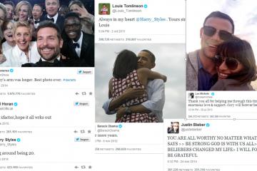 Tuits con más retuits de la historia de Twitter