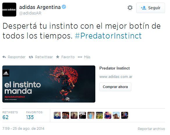 Adidas Twitter ecommerce