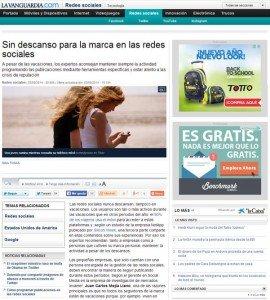 Artículo Juan Carlos Mejía Llano en el portal La Vanguardía de España