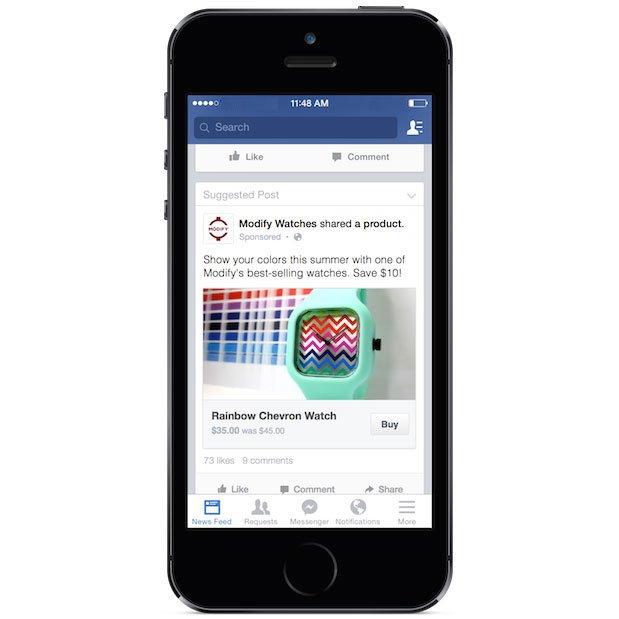 Facebook commerce Botón Comprar