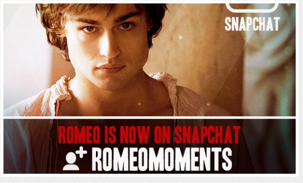 Romeo Moments Campaña de Snapchat