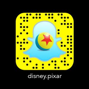 Disney.Pixar Código Snapchat
