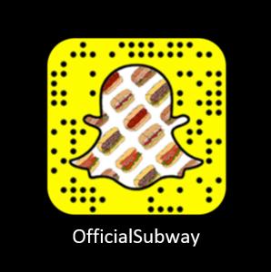 Subway Codigo Snapchat