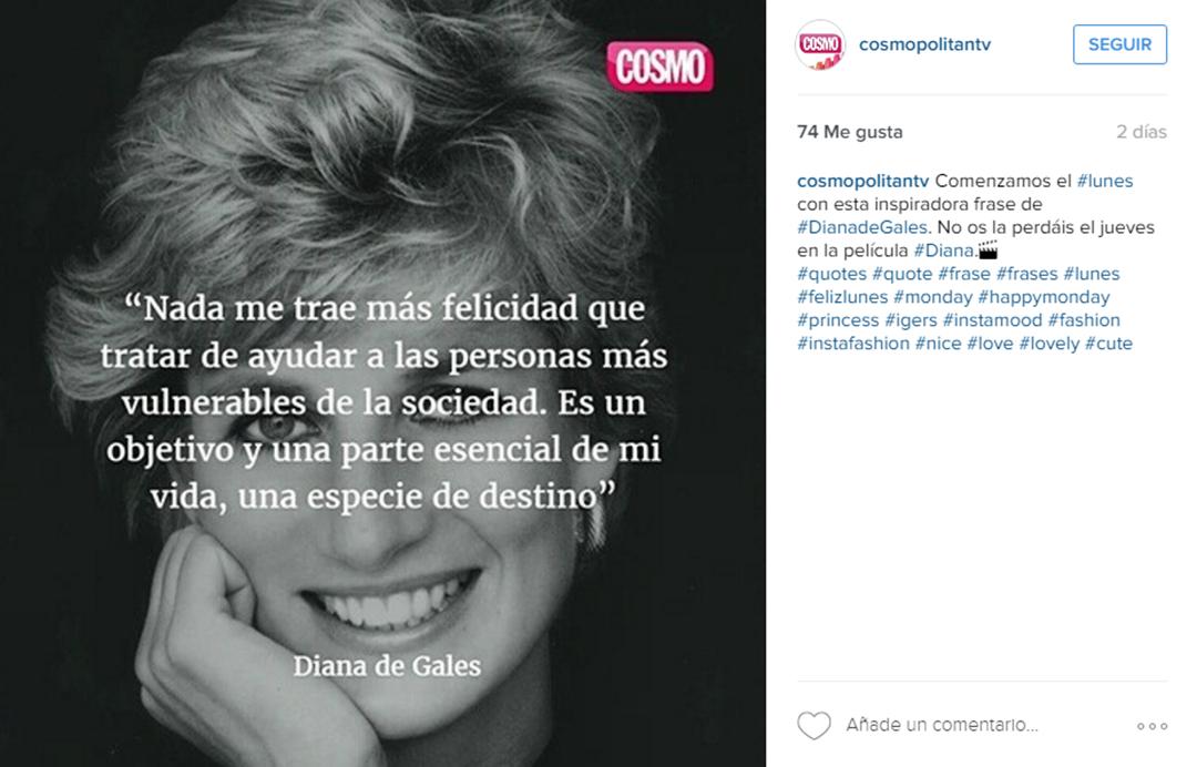 Imagen Frase Instagram Cosmopólitan