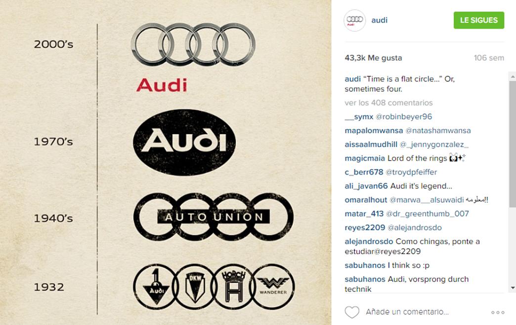 Imagen historia Instagram Audi