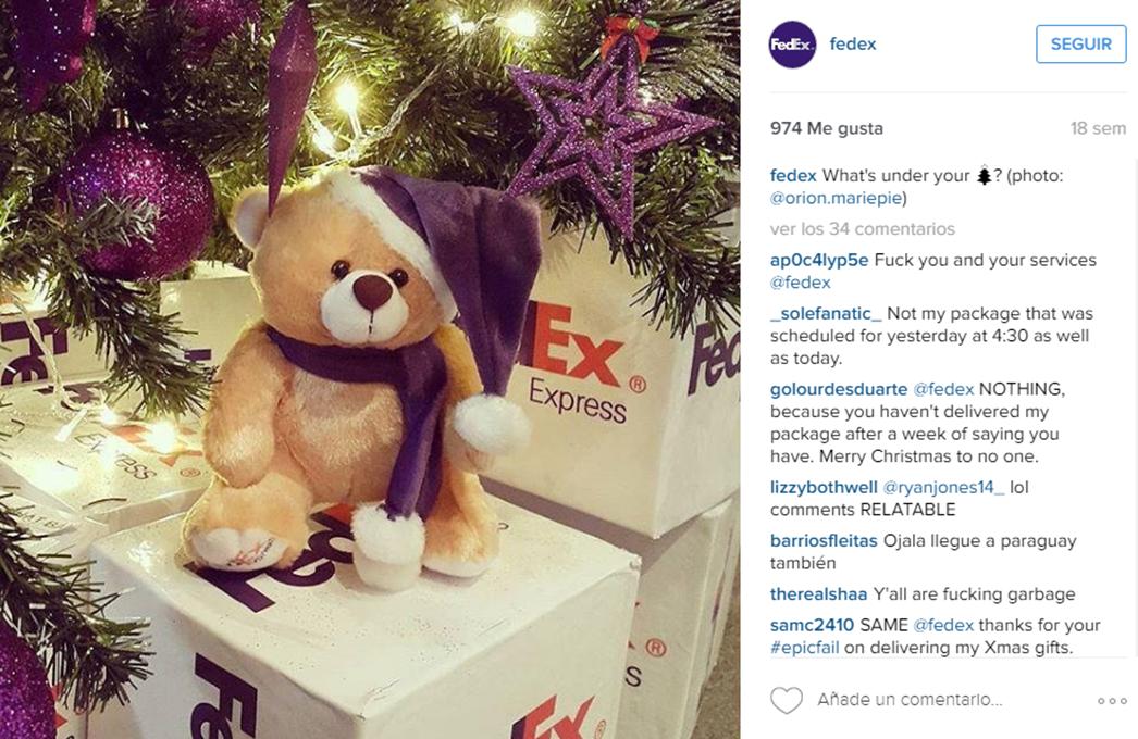 Imagen sobre fechas especiales en Instagram Fedex