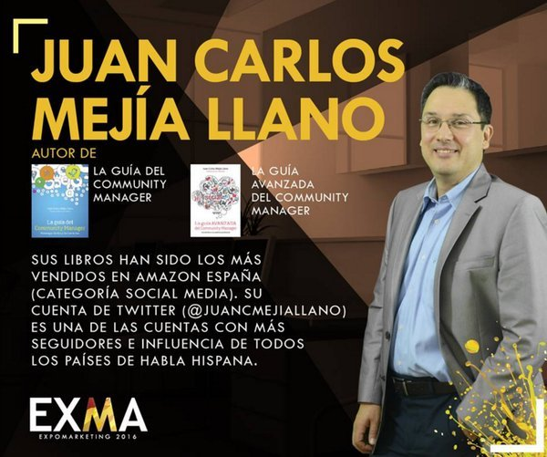 Juan Carlos Mejía Llano speaker ExpoMarketing 2016