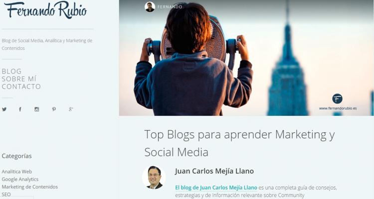 Blog JuanCMejia entre los mejores para aprender marketing y social media