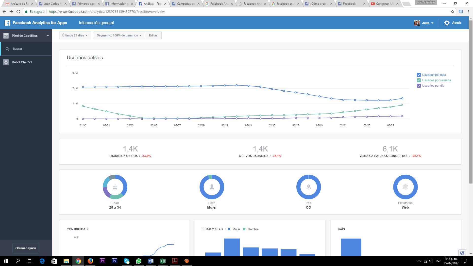 Facebook Analytics para Aplicaciones