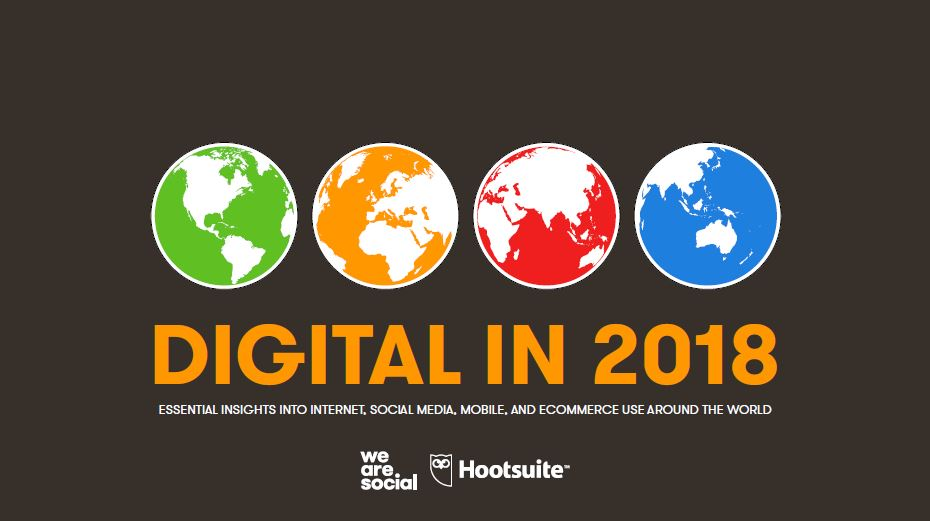Digital in 2018. Estudio WeAreSocial y Hootsuite