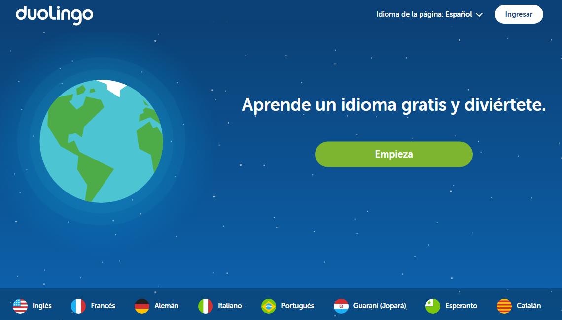 Aplicación de inglés Duolingo