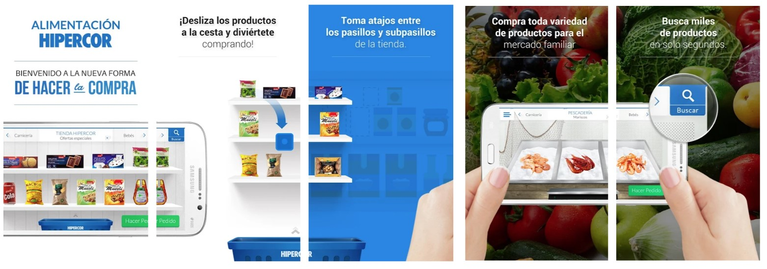 Screenshots App Hipercor