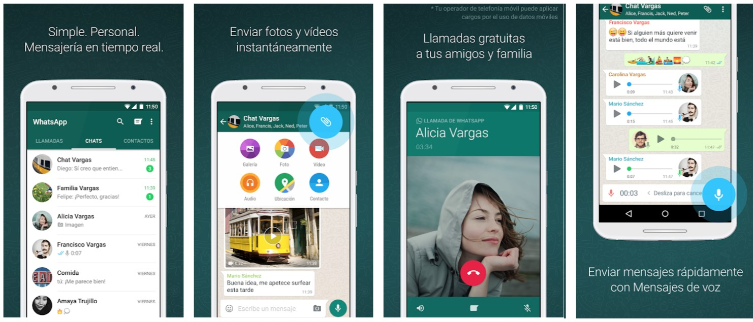 Screenshots App WhatsApp