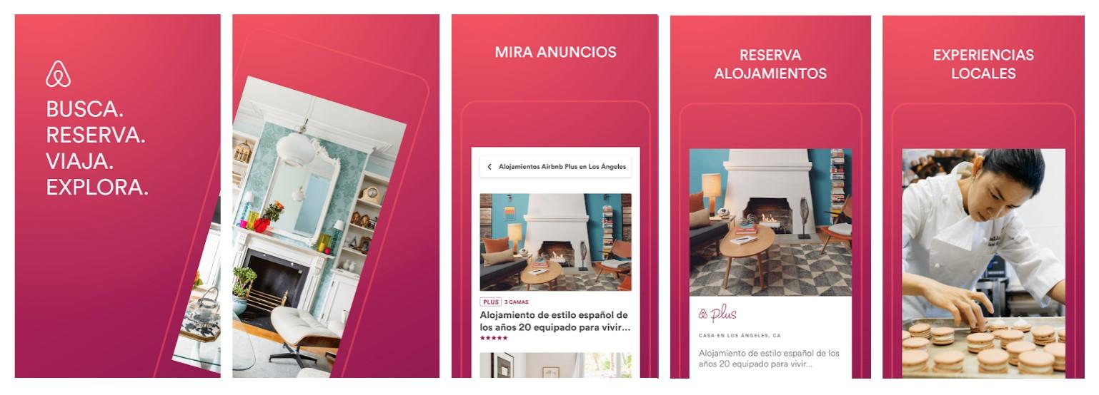 Screenshots App Airbnb