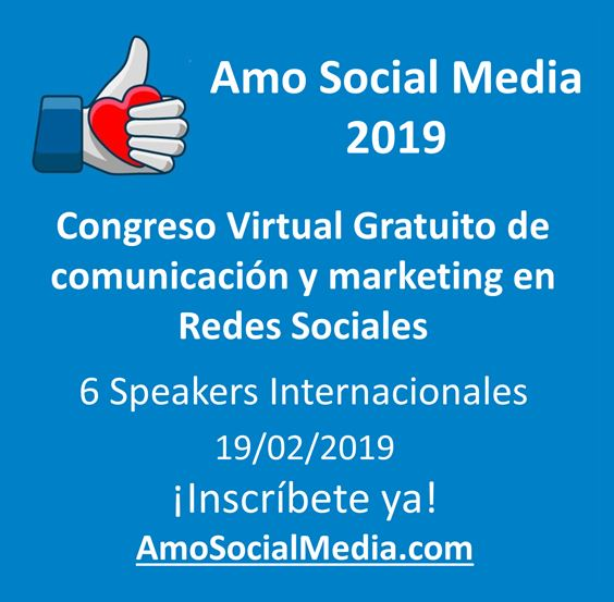 Congreso Virtual Gratuito Amo Social Media